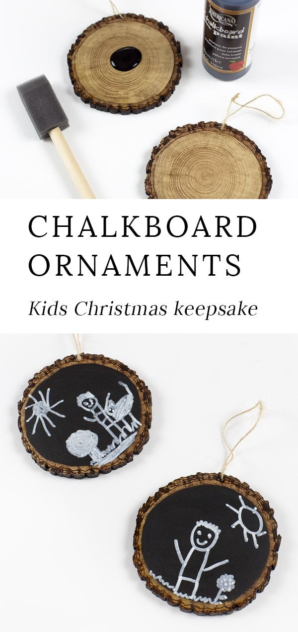 Easy Keepsake Chalkboard Ornaments | Fireflies and Mud Pies