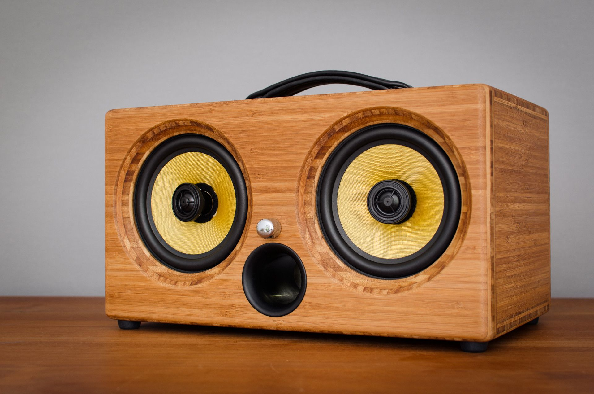 Cool Speaker Boxes thodio ibox™ xc side pressed caramel bamboo   bluetooth speakers