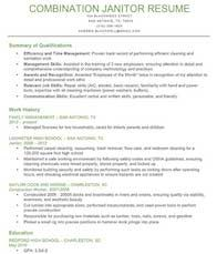 Janitor Resume Sample Interesting Qualifications Summary Example Janitor  Computer Keyboard .