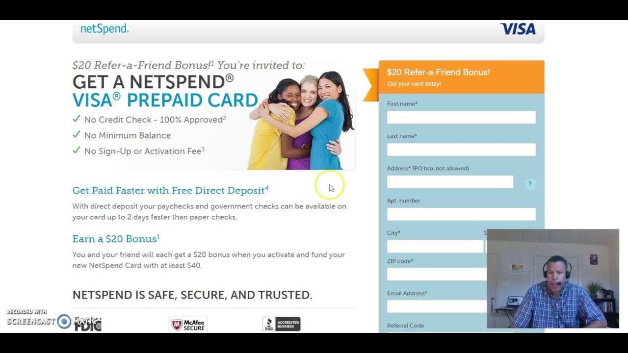 Net Spend Card Prepaid Debit Card Guaranteed Visa No Credit Check