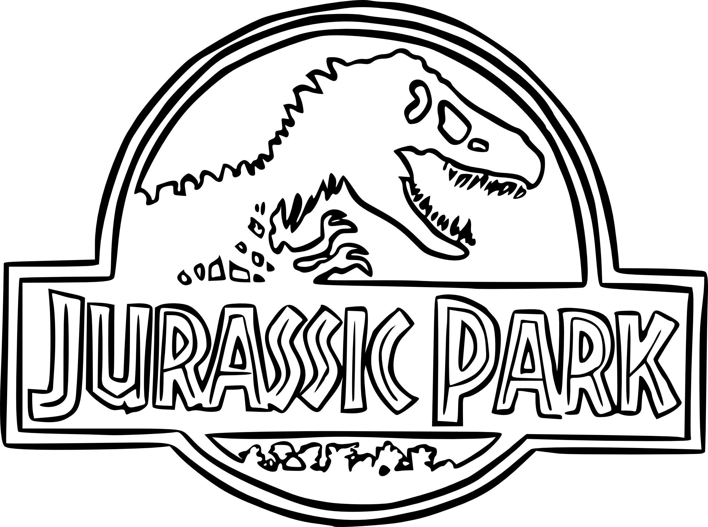 Jurassic Park Coloring Pages Fresh 25 Logo Festa Mundo