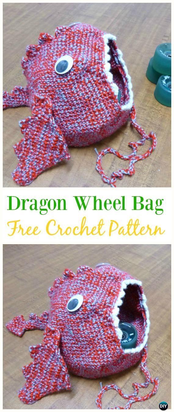 Dragon Wheel Bag Free Crochet Pattern -#Crochet Drawstring #Bags ...