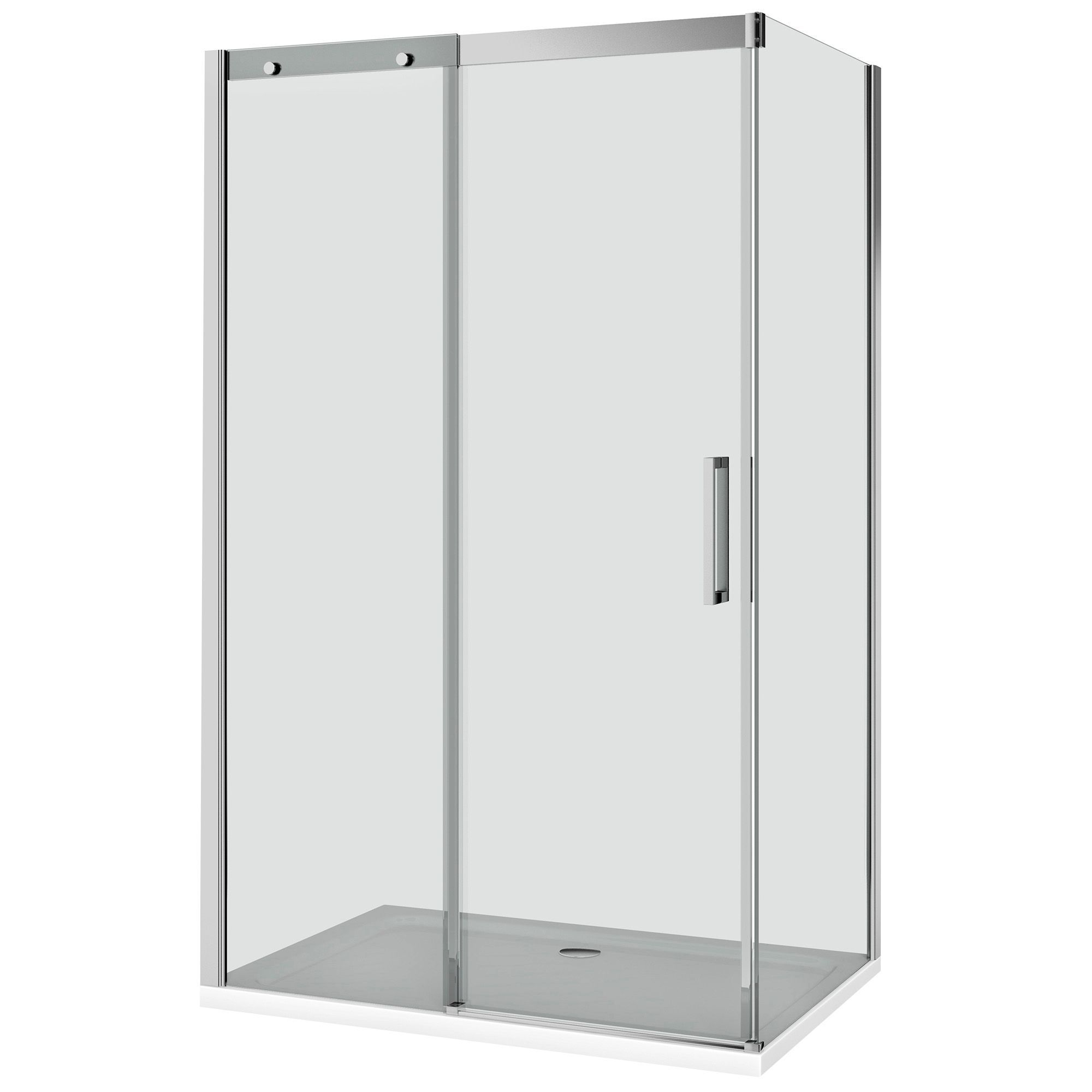 Cooke Lewis Carmony Polished Silver Effect Frame Rectangular Soft Close Shower Enclosure Shower Enclosure Rectangular Shower Enclosures Tall Cabinet Storage
