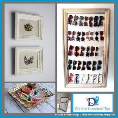 DIY And Household Tips: 30 Repurposed Vintage Picture Frames ...