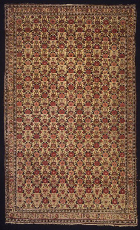 Senneh Carpet Late 18th Early 19th Century Wool Old Dims 76 1 2 X 46 1 2 In 194 3 X 118 1 Cm Brooklyn Museum Antique Oriental Rugs Rugs Simple Carpets