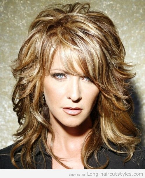 Simple Long Hairstyles For Older Women Bangs 2015 Pictures