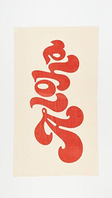 Aloha Towel Typography love, Graphic design, Typography