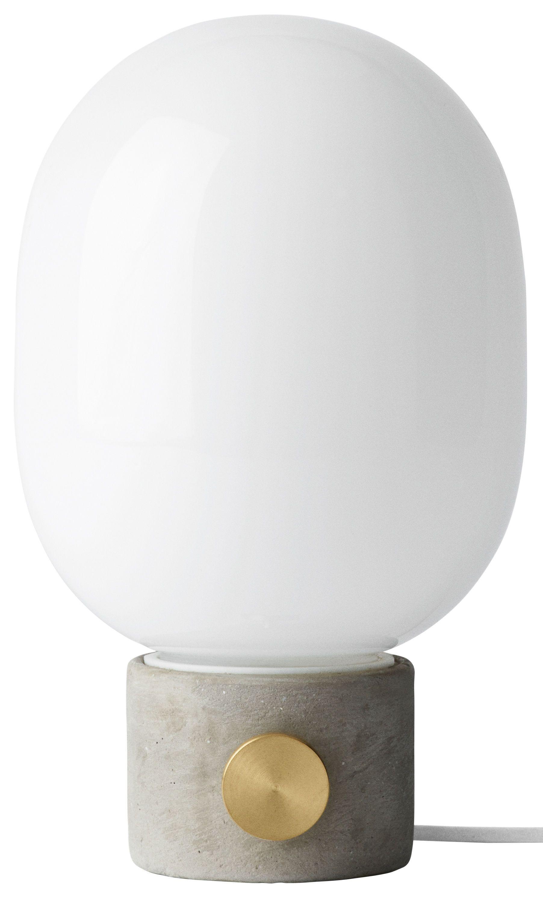Lampe De Table Jwda Menu Blanc Gris Made In Design Lampes De Table Lampe De Table Blanche Lampe