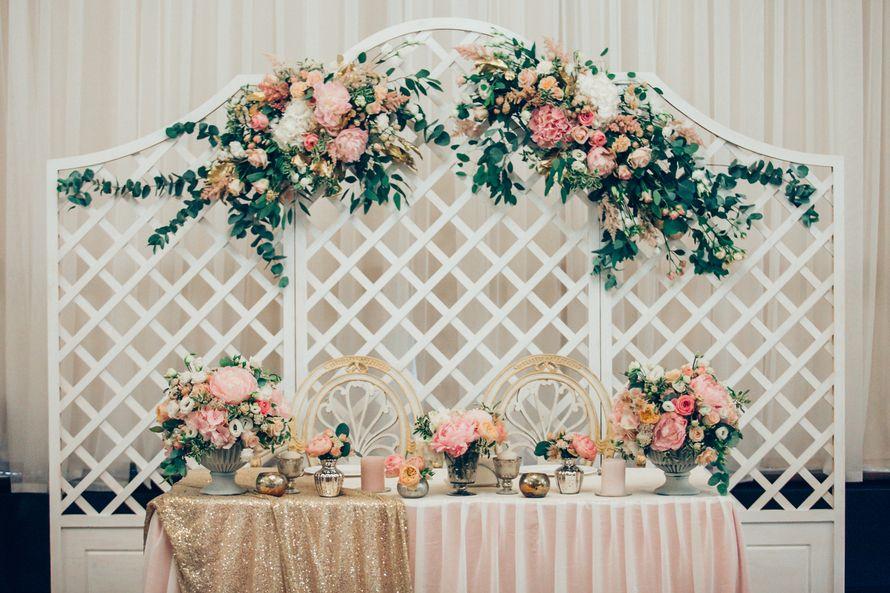 Президиум. Декор Love Letter Wedding Фото Марина Назарова, Свадебное оформление и флористика, Украшение зала на свадьбу