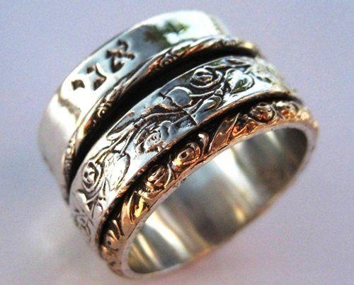 Hebrew Meditation Ring Spinner Rings Sterling Silver Rose Gold Love Verse Bluenoemi Http Www Amazon Com Dp B Inspirational Ring Spinner Wedding Rings Jewelry
