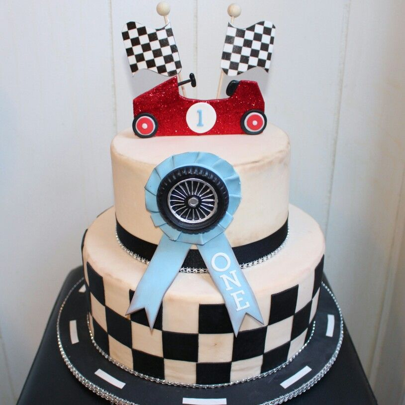Vintage Race Car Cake For A Special Birthday Happy Birthday