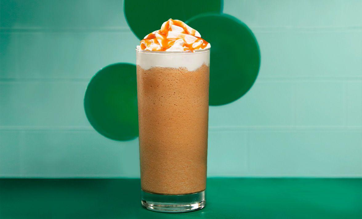 Caramel frozen blended coffee starbucks at home us
