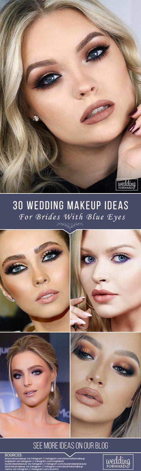 Photo of Hochzeits-Make-upschein-blaues Auge-Ideen