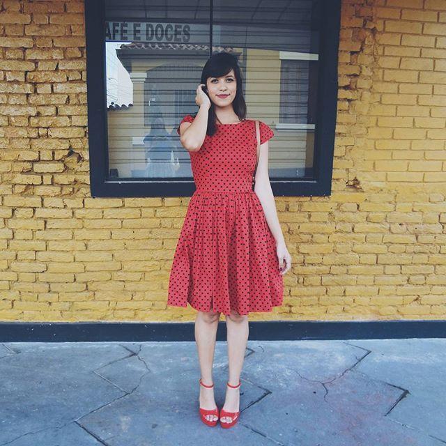 WEBSTA @ nahtoff - Hoje tem cosplay de joaninha no blog 🐞🐞O vestido está…