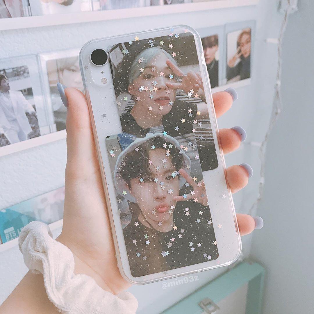 """jay ♡ ॢ₍⸍⸌̣ʷ̣̫⸍̣⸌₎ auf Instagram: """"meine Handyhülle"""" – etwas über diese beiden Fotokarten kann ich nicht übersehen. Jimin und Hobi sind so süß – dank meiner Liebe @jvlixs, die ich habe… """"   – phone stuff"""