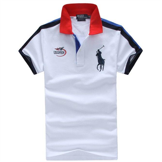 Polo Ralph Lauren Hombres USOPEN Polo Camisas Blanco  aa0e8c68400