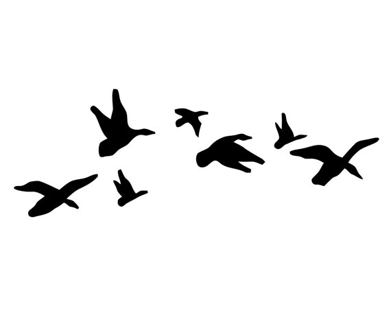 geese hunting vinyl sticker duck hunter decal flying geese stickers