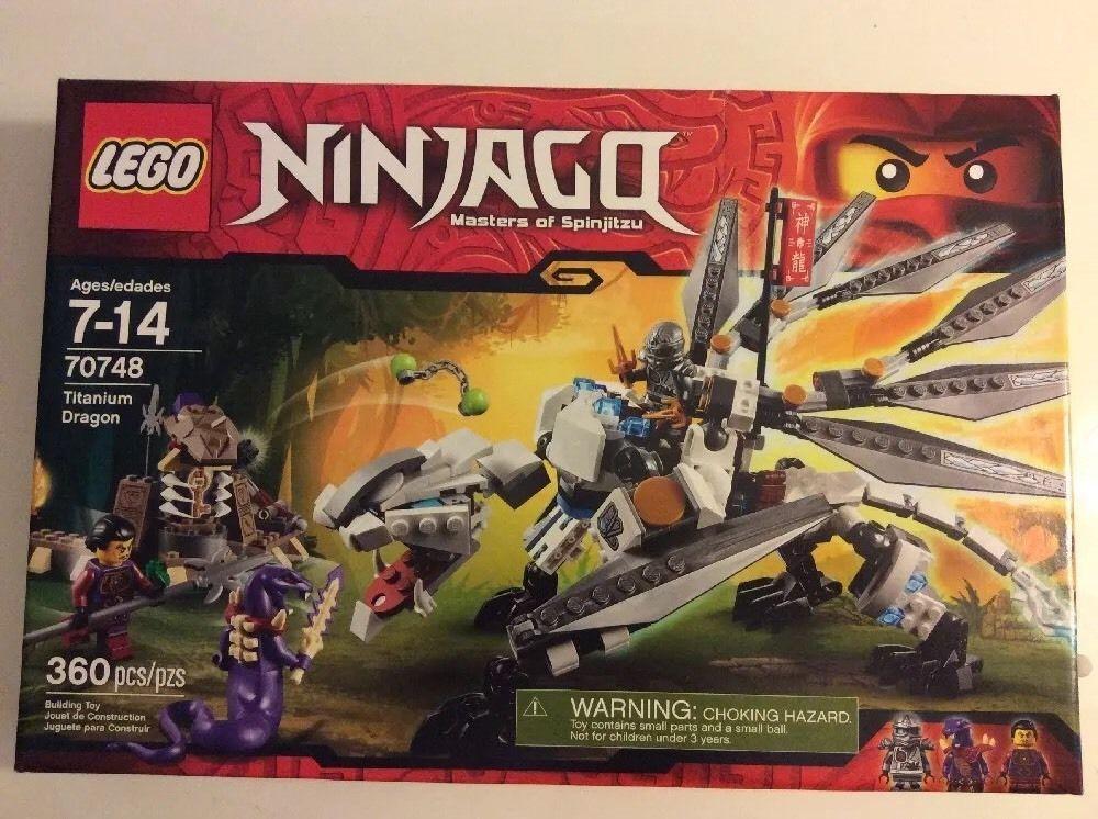 New Lego Ninjago Masters of Spinjitzu Set 70748 Titanium Dragon ...