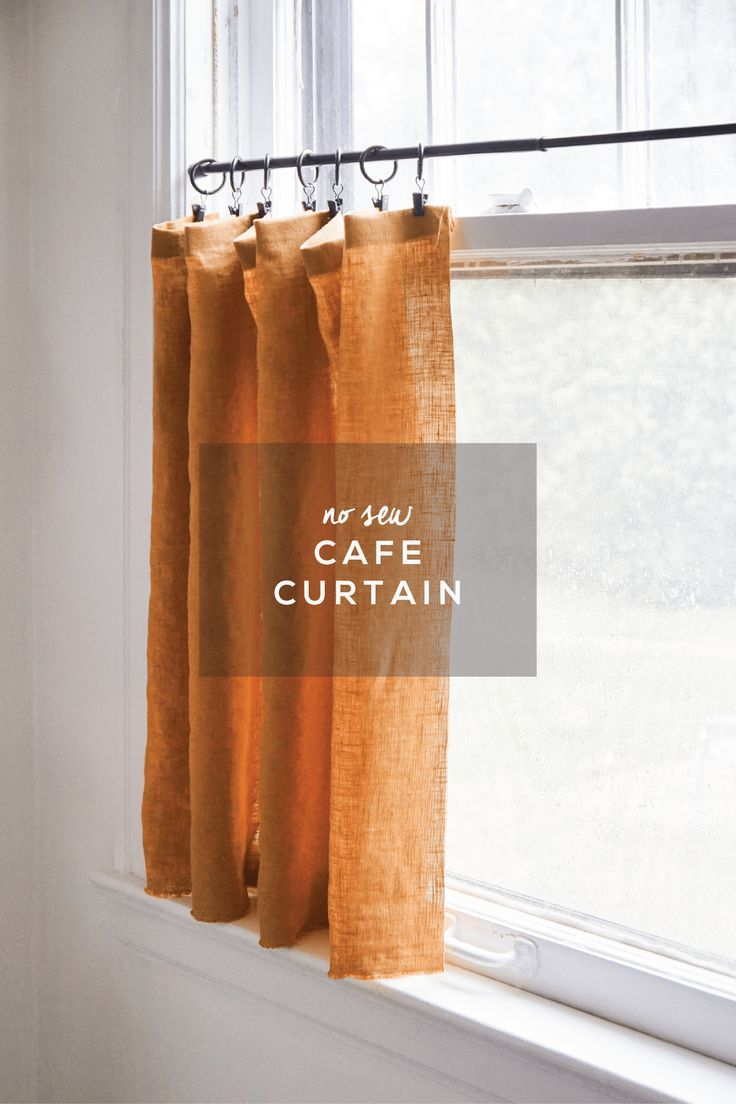 Novice crafters will love this easy, no sew cafe curtain video tutorial. Make a window curtain using hem tape and an iron. No sewing machine needed!