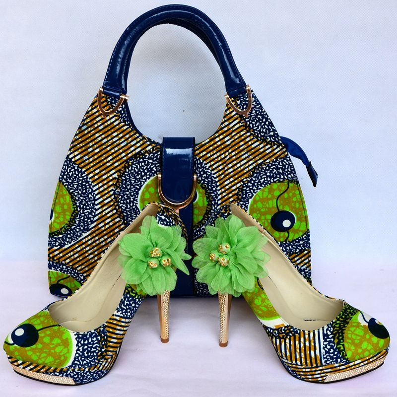 fashion designer african wax shoes and bags on sale African Print ...