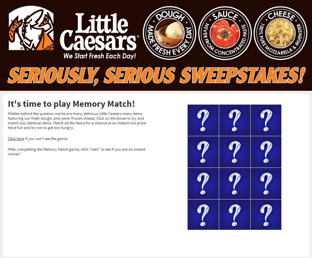 Little Caesars Seriously Serious Sweepstakes ENDS
