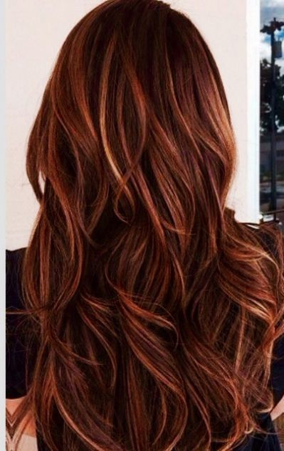Dark Hair With Caramel And Red Highlights Yahoo Search Results Hair Styles Auburn Hair With Highlights Long Hair Styles