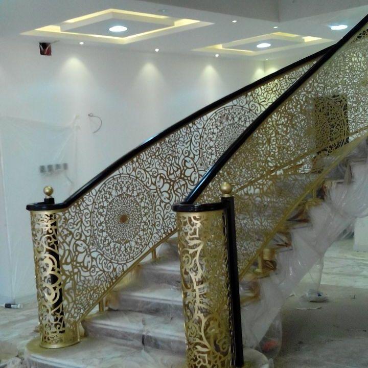 Saudiarabia Riyadh Doors Gates Design Rails Stairs Handrail Cnc Lifestyle Modern Cadd Beautif Railing Design Staircase Design Stair Railing Design