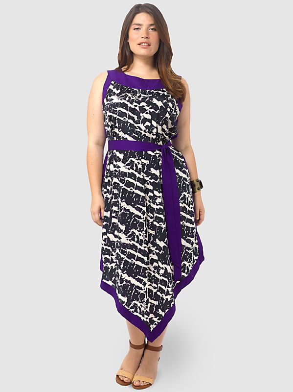Abstract Print Maxi Dress by Spruce & Sage,Available in sizes 0X-5X