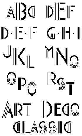 Art Deco Type Handwriting FontsWord