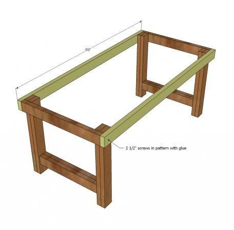 Ana White | Bauen Sie einen glücklicheren Bauernhaustisch | Kostenlose und einfache DIY-Proje... #anawhite