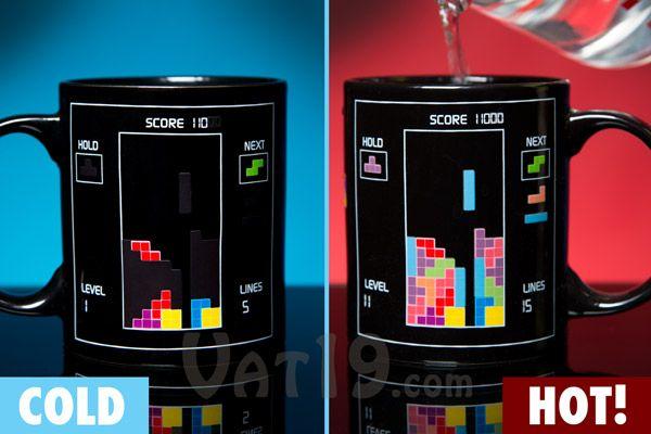 Tetris Heat Change Mug Change Coffee and Stuffing