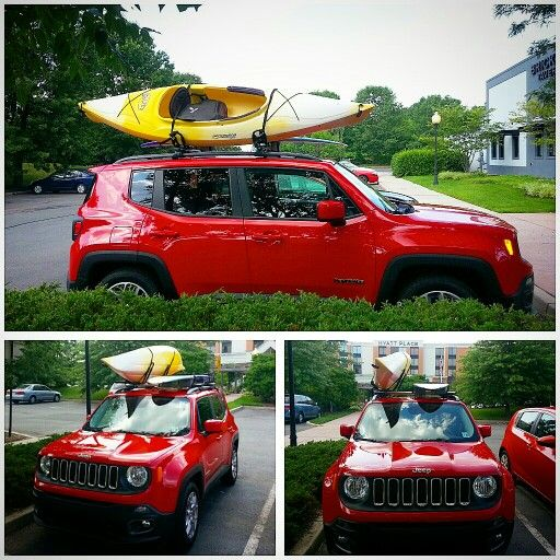 Jeep Renegade Outdoors Kayak And Surfboard Jeep Renegade Jeep Renegade Trailhawk Jeep Truck