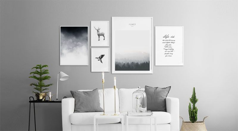 Brightening Up The Home With Prints And Posters Living Room
