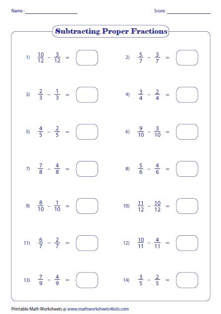 Image Result For Common Denominator Worksheets Clasa 6 Pinterest