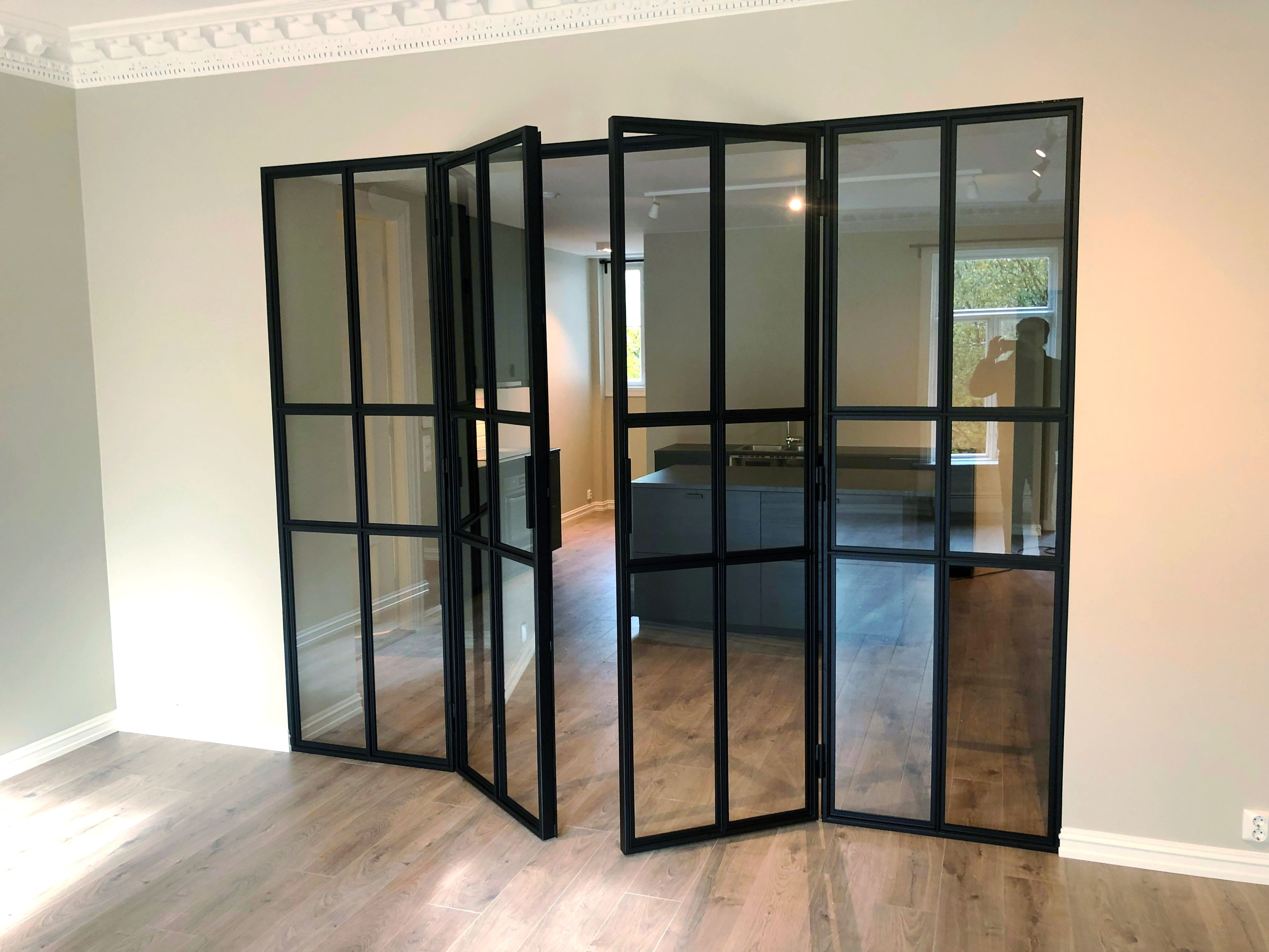Double french doors with fixed sidefields delivered and inst…