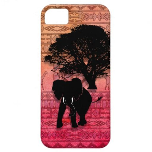 Pink zebra stripes cute elephant african pattern iPhone 5 covers Wonderful elephant in Africa - amazing!!