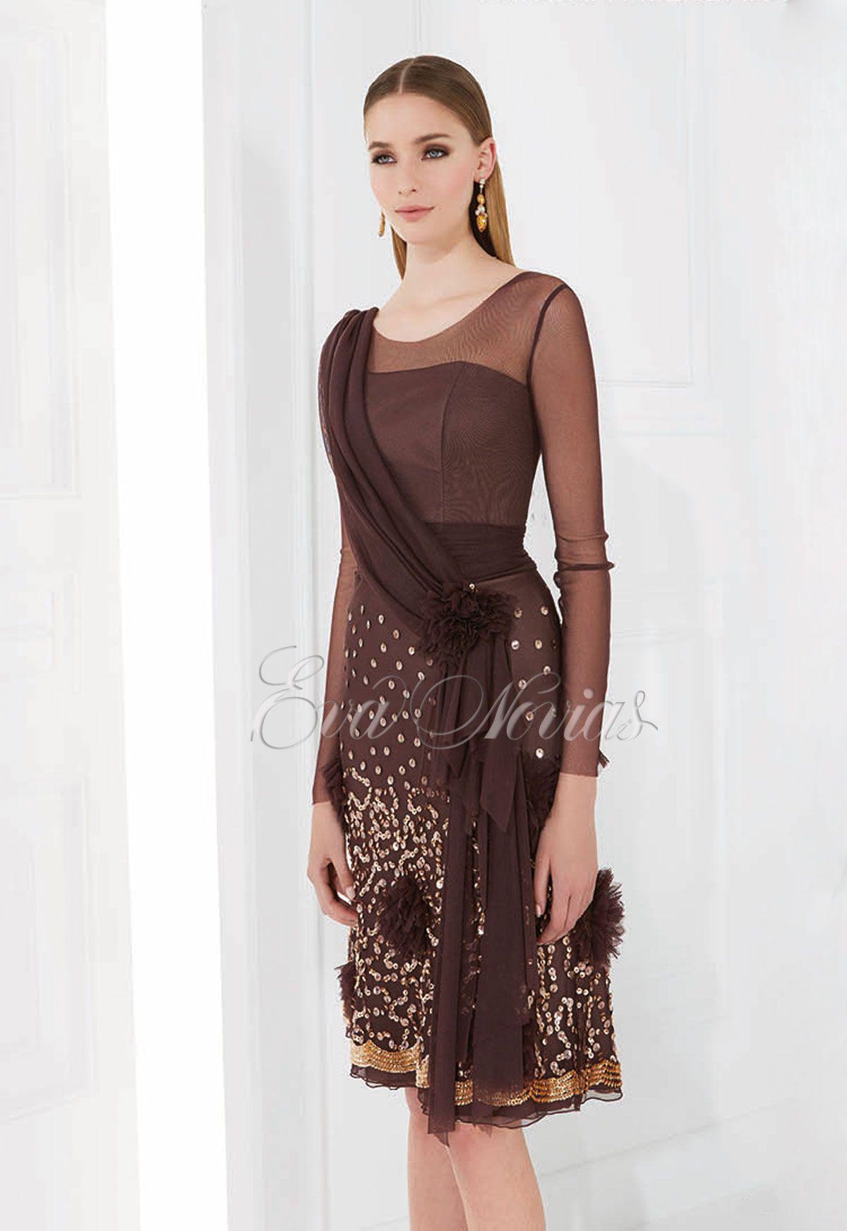 83fe60b939 Vestido de fiesta Patricia Avendaño 2016 Modelo 1980 en Eva Novias Madrid.   vestido  boda  invitada  modamujer  dress  fashion  glamour