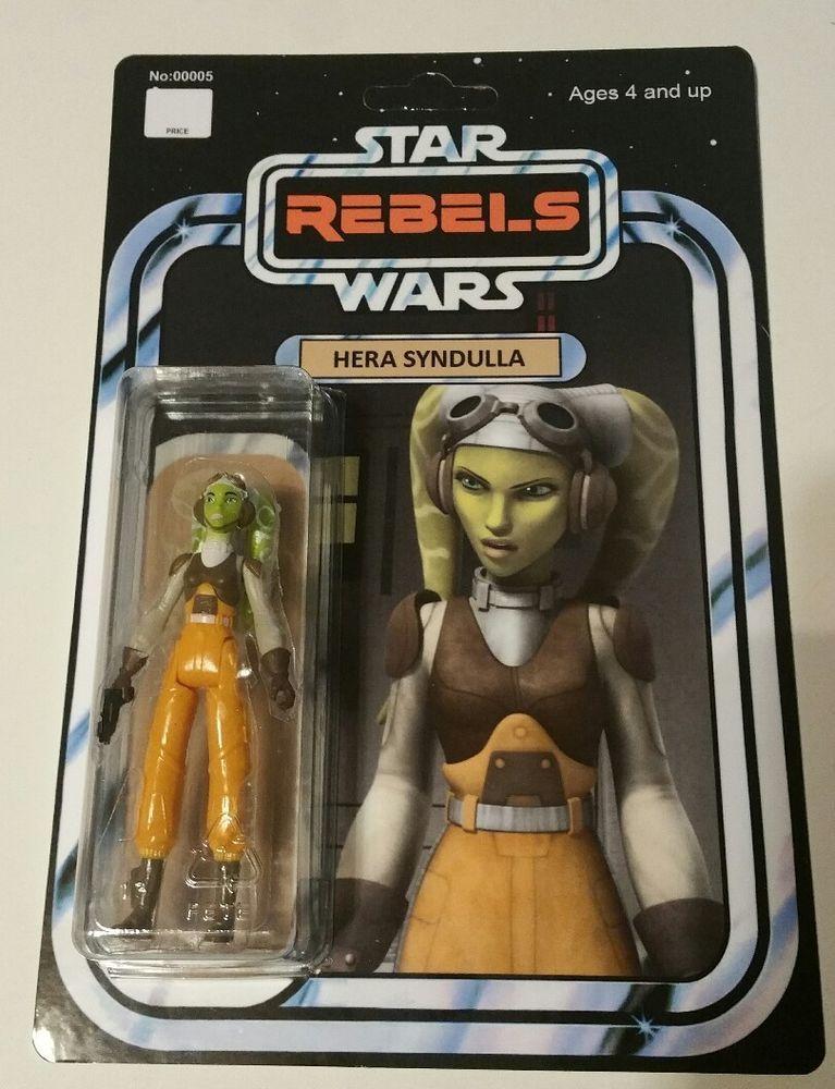 Star Wars Hera Syndulla Custom cardées Mini Figurine rebelles