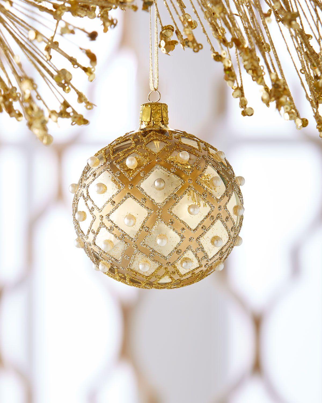 Shiny Gold Ball Christmas Ornament Christmas Ornaments Gold Christmas Ornaments Christmas Ornament Sets