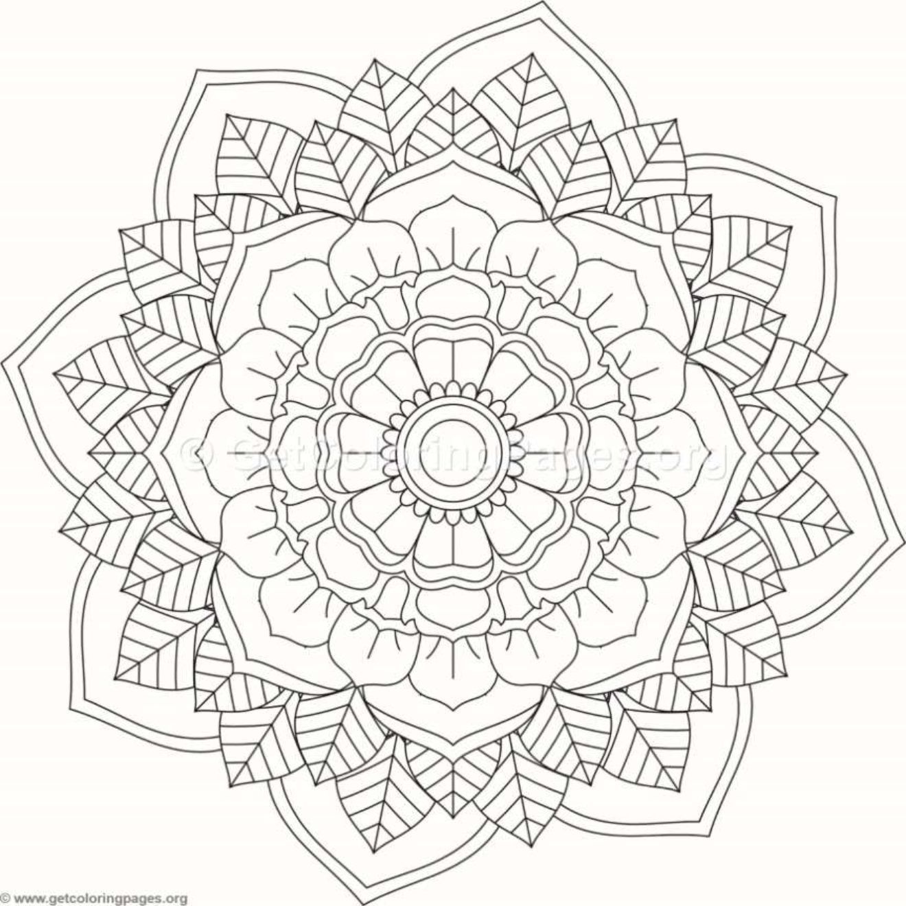Flower Mandala Coloring Pages #207