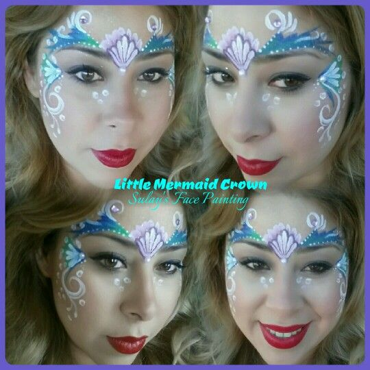 Face painting little mermaid | Girl face painting, Disney ...