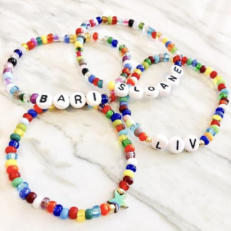 Kids Beaded Necklace Bracelet Beads Girls Jewelry Children Fancy Dress Party Bag