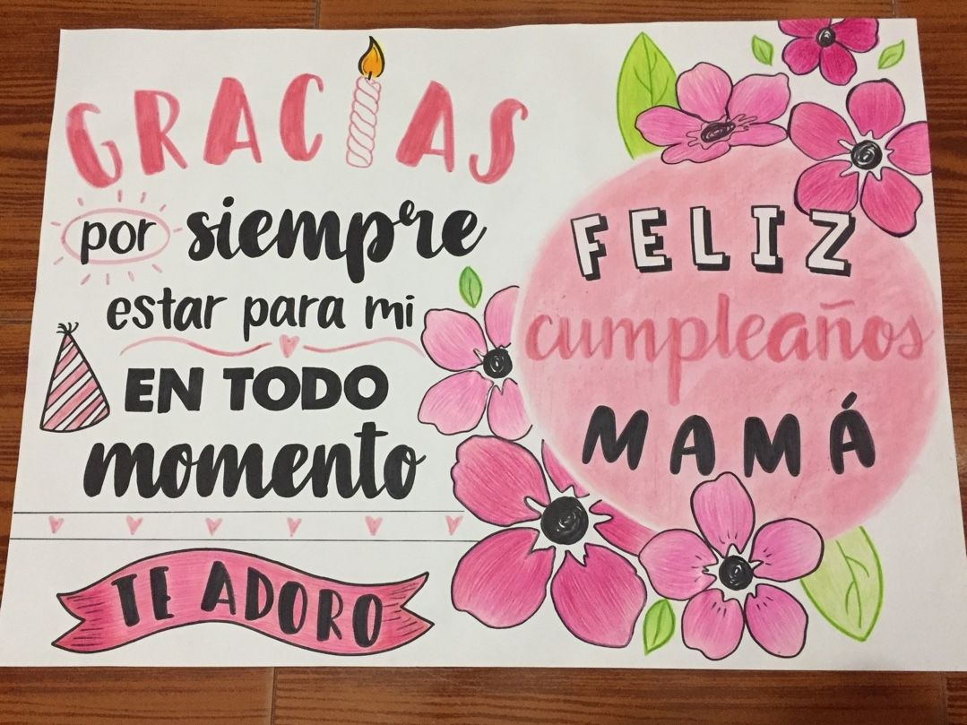 Cumpleaños Mamá Mom Day Lettering Bullet Journal Doodles
