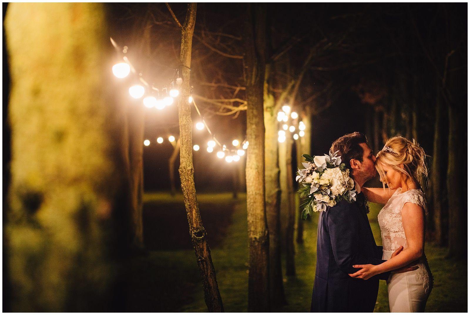 Beautiful night portrait at Shustoke Farm Barns Wedding ...