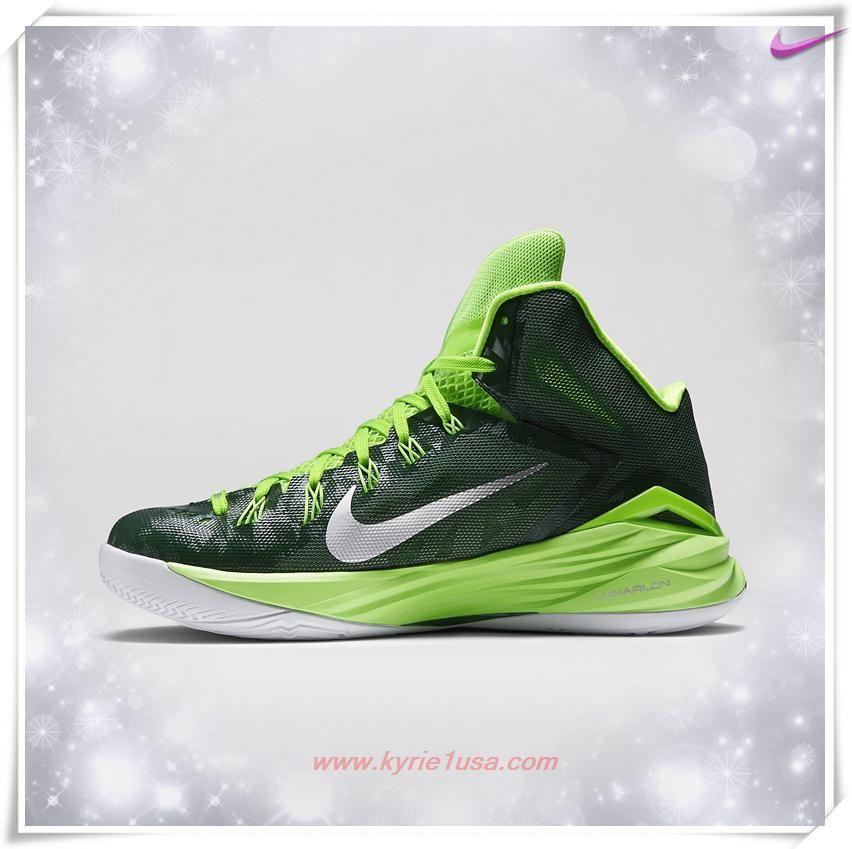 653483-303 Nike Hyperdunk 2014 TB Gorge Green/Electric Green/White/Metallic