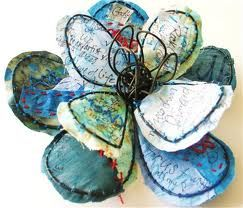 wire flowers - Google Search stitched on fabric?