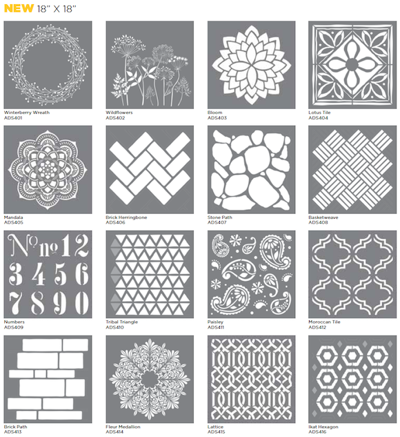 Decoart Blog Article 2016 New Americana Decor Products Stencils