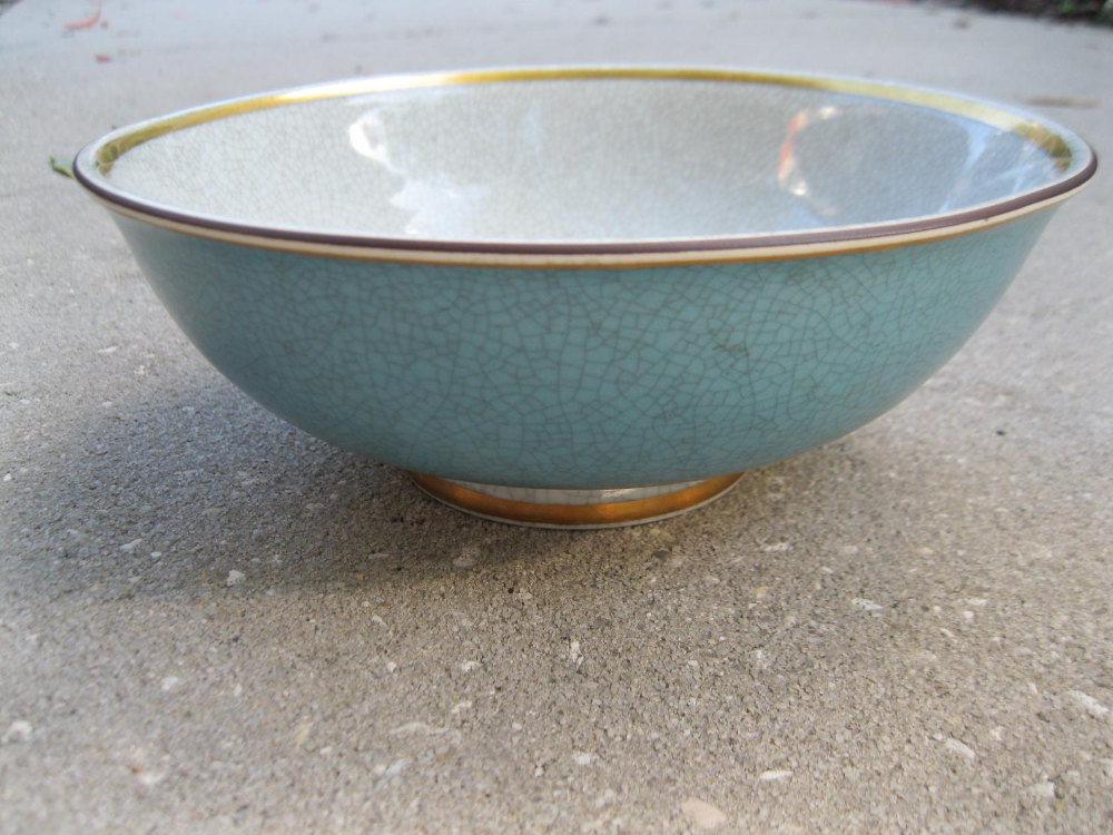 Thorkild Olsen Royal Copenhagen Blue Crackle Glaze Bowl Gotvintage Vintage Homedecor Royalcopenhagen In 2020 Blue Crackle Glaze Glazed Bowl Crackle Glaze