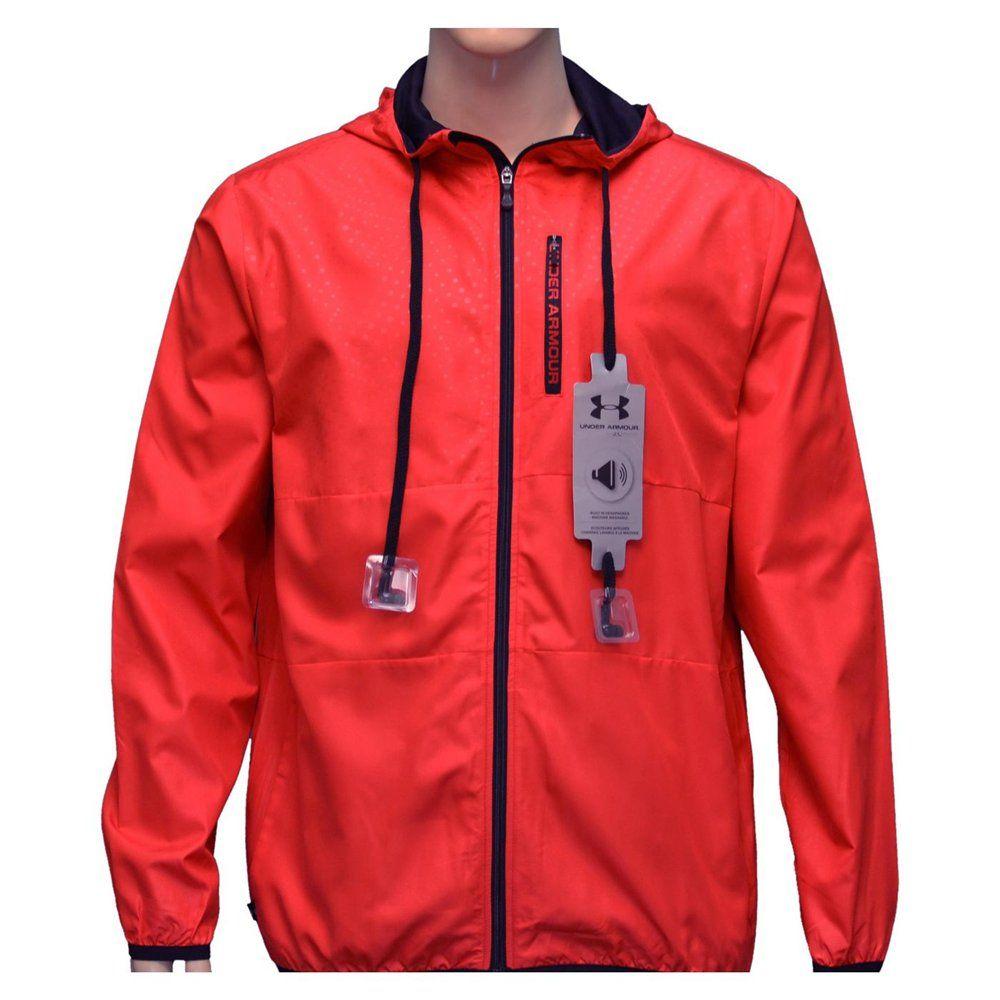 e7d6fa59a19d UNDER ARMOUR Men s UA Allseasongear Built in Headphones Hoodie Jacket Coat   74.98