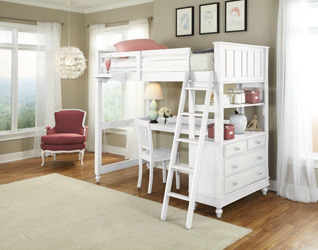 Javin Loft Bed With Desk  LoftBeds  Pinterest  Lofts Desks and Room